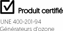 produit certificado ozono