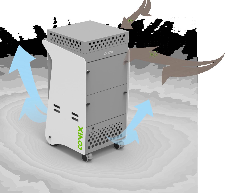 onair 4800, un purificateur d'air de grande capacité pour les grandes pièces